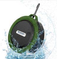 bathroom suction cups - C6 Waterproof Dustproof Outdoor Bluetooth Speakers TF Wireless Music Loudspeaker Suction Cup Shower Bicycle Speaker For Bike Bathroom