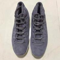 Wholesale basketball shoes retro s Premium quot Grey Suede quot men athletic shoes retail