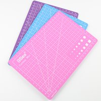 Wholesale Pc Pvc Cutting Mat A5 Durable Self healing Cut Pad Patchwork Tools Handmade Diy Accessory Cutting Plate Dark Green x15cm