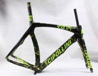 Wholesale Style of ArmyGreen Cipollini RB1K carbon bike frames With K T1100 BB30 BB68 Black RB1K road bike carbon frameset