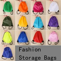 Wholesale New cute Drawstring Beam pockets Solid color Backpack Shopping Bags Fashion Storage Bags Gifts Bags B1060