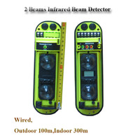 active ir sensor - waterproof ourdoor active fence burglar Human Infrared Sensor Wired Beam detector alarms for home security keypad