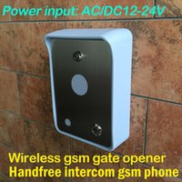 Wholesale GSM Audio intercom for visitor wireless remote access control gate opener features included gsm key rtu5024 cl1 gsm rtu5015