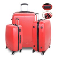 Wholesale US Stock Set Luggage Trave Trolley Spinner ABS Bag Suitcase Carry On quot quot quot