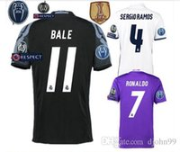 Wholesale sales Free patch Thai best Quality Realed Madrided adult Shirts Home White Away Purple RD black shirts