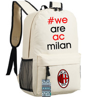 ac box fan - AC Milan backpack Football team daypack Fans school bag Soccer club Junior schoolbag Outdoor rucksack Sport day pack