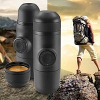 Wholesale Portable Hand Held Manual Pressure Coffee Machine Mini Espresso Maker for Home Office Travel Outdoor Black