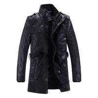 Wholesale cheap clothes china blusas de inverno masculino jaqueta winter mens rider jacket black leather coats long pu clothes brand B074