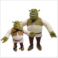 Wholesale cm cm Hot New Two Paragraph Yizhi Plush Doll Funny Shrek Dolls Model Hand To Do Shrek The Ogre child Festival Gift