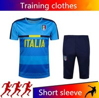 Wholesale 2016 Italy blue Short paragraph Sportswear Top Thai quality Italia ZAZA INSIGNE EL SHAARAWY PIRLO VERRATTI MARCHISIO Training clothes