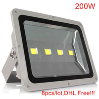 8pcs Ultrathin Led Flood Light 200W Led Floodlight Nouveau type Gris Shell AC85-265V Led Spotlight Éclairage extérieur
