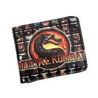 Vente en gros - Jeu Short Wallet Mortal Kombat Thor Saw À l'intérieur Chucky Thundercats LOL Halo Purse Crédit Oyster License Card Man Portefeuille