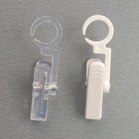 Wholesale Plastic POP Products Commodity Small Items Paper Sign Display Clamp Clips Holders Hanging Hooks Rotatable By Strong Grip Clear White