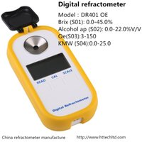 Wholesale DR401 New Mini Digital portable brix Refractometer pct for grape sugar test fruit home brewing wine maker