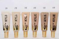 antibacterial liquid - 2016 New Kylie liquid foundation Makeup Face Powder kylie Foundation professional matte concealer colors supply