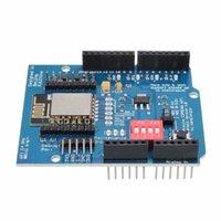 al por mayor wifi para arduino-Freeshipping ESP8266 ESP-12E UART WIFI Tarjeta de Desarrollo de Escudo Inalámbrico para Arduino UNO R3 Circuitos 70 x 60 x 20 mm Boards Module