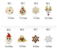 Wholesale Metal d nail art christmas decorations charms nails glitter rhinestones nail supplies jewelry