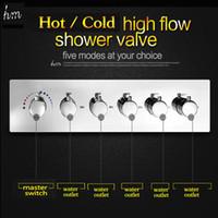 bath water diverter - KAN Function Handle Bathroom Shower Accessories Water Flow L min Hot Cold Mixer Valve Bath Shower Faucet Diverter