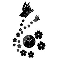 Wholesale Love Wall Watches - Wholesale-2016 new real special offer top fashion watch wall clock diy love digital 3d home decoration living room stickers quartz Acrylic