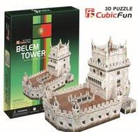 belem tower - Medium Size Cubic Fun D Paper Puzzle Belem Tower C711H CM