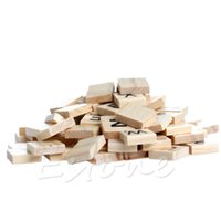 Wholesale Wooden Scrabble Tiles Black Letters Numbers For Crafts Wood New