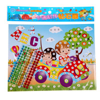 Wholesale Kids Mosaic Stickers Art Puzzle DIY D Diamond Pasted Cartoon Character Children s Educational Toy