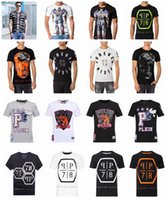 Wholesale Original German brand men s Short sleeve t shirt fashion crime design skull hip hop high quality print medusa PHILIPP PLEIN T shirt pp3