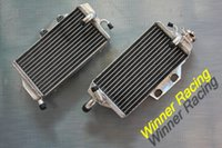 Wholesale L R ALUMINUM ALLOY RADIATOR For HONDA CR125R water box motorcycle replacement parts engine cooling parts