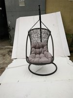 basket chairs hanging - Hot selling Rattan basket rocking chair Garden rattan wicker swing chair Garden patio Rattan Hanging Chair Outdoor wicker swing chair