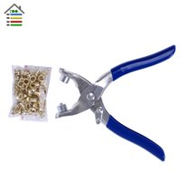 Wholesale DIY Grommet Eyelet Pliers For Clothes Shoes Hand Tools Kit Setting With Set Eyelets