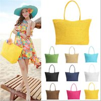 beach interior design - Brand Design Summer Style Straw Popular Weave Woven Tote Shopping Beach Bag Purse Handbag Shoulder N770 Bolsa Feminina