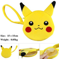 Wholesale Poke Pikachu Eevee Espeon Umbreon Plush Purse Wallet Cartoon Action Stuffed Mini Change Coin Bags XMAS Toys Gifts cm DHL Free