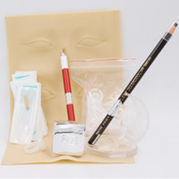 beauty permanent makeup - Professional beginner beauty use permanent makeup microblading kit with tattoo paste and manual pen blades