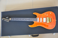 Wholesale Suhr custom guitar Yellow Quilted maple top Ebony fingerboard Golden hardwares Suhr electric guitar OEM service accept