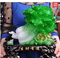Wholesale c2016Coloured glaze jade cabbage large furnishing articles xi satisfied goods sitting room opening Christmas gifts gifts