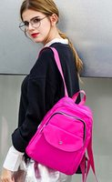 Wholesale 2016New Arrival Hot Sell Lady Backpack Oxford Canvas Fashion With Lovely Fresh Candy Colors Light Violent