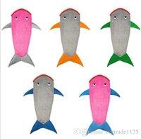 Wholesale 142 cm Shark Blanket Sleeping Bag Boys Shark Blankets Double Layer Cot Blanket For Kids