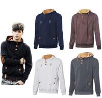 Wholesale preppy style hooded fleece jacket loose hood coat mens thick slim sweater outwear handsome hood jacket