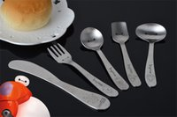 Wholesale Baymax stainless steel cutlery knife and fork spoon innovative fork children s tableware Western tableware dinnerware sets