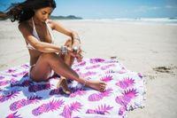 Wholesale Round Beach Towel Women Beach Cover Ups Mandala Towel Bikini Pineapple Printed Hippie Beachwear Sarong Shawl Bath Towel Yoga Mat