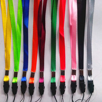 Wholesale Universal Polyester Neck Lanyard Long Straps Nylon Hang Rope for MP3 Mp4 ID Holder Mobile Phone Cellphone