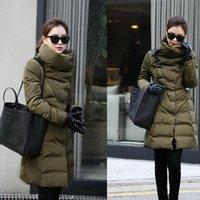 Wholesale winter women coat Slim Long Padded Down jacket coat Parka cotton jacket Outwear
