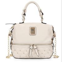Ведра оптовой Цены-Оптовая-Kim kardashian kollection kk сумка дизайнер бренда сумка 2015 сумки женские заклепки моды ведро золотой цепи Messenger сумки
