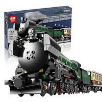 Wholesale LEPIN Technic Series Emerald Night Train Model Building Kit Minifigures Block Bricks Toys