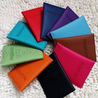 Wholesale Fashion Passport Holder ID Document Credit Card Holder Wallets Purse Card Holders Cover Case Protector PU Leather Travel Card Holders D293