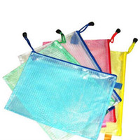 Wholesale 10 Gridding Waterproof Zip Bag Document Pen Filing Products Pocket Folder Office School Supplies