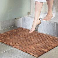 Wholesale Teak Non Slip Bath Mat Large cm Non slip Bath Tub Mat Bathroom Furniture USA Stock
