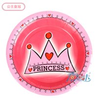 Wholesale quot Princess Prince design Paper Plates for Children Birthday Party Decoration Kids Tableware Party Supplies