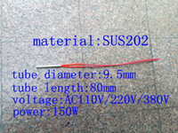 Wholesale Customized x80mm D L AC110 V W SUS202 mm wire length electric cartridge heater heating tube heating rod