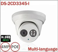Wholesale Hikvision Multi language MP CCTV Camera DS CD3345 I Instead DS CD3332 I IR Network Dome IP Camera H265 for Camera Security